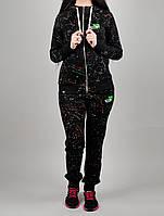 Зимний женский спортивный костюм Puma 7183 Чёрный