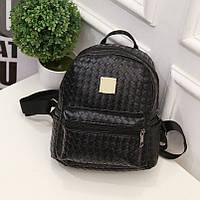 Рюкзак кожаный плетеный мини