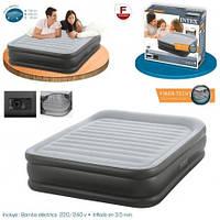 Надувная кровать матрас 64436 Intex (203x152x42см) с нассосом 220 В