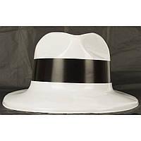 Шляпа Гангстерская пластик (Белая) 191216-020