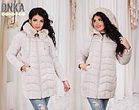 Куртка зимняя женская батал р7088 Дени