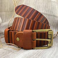Мужской кожаный ремень R2-02 (светло-коричневый)