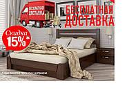 Кровать деревянная с подъемным механизмом Селена натуральный Бук двуспальная