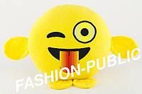 Подушка-игрушка-подарок-смайлик с лапками 35 см