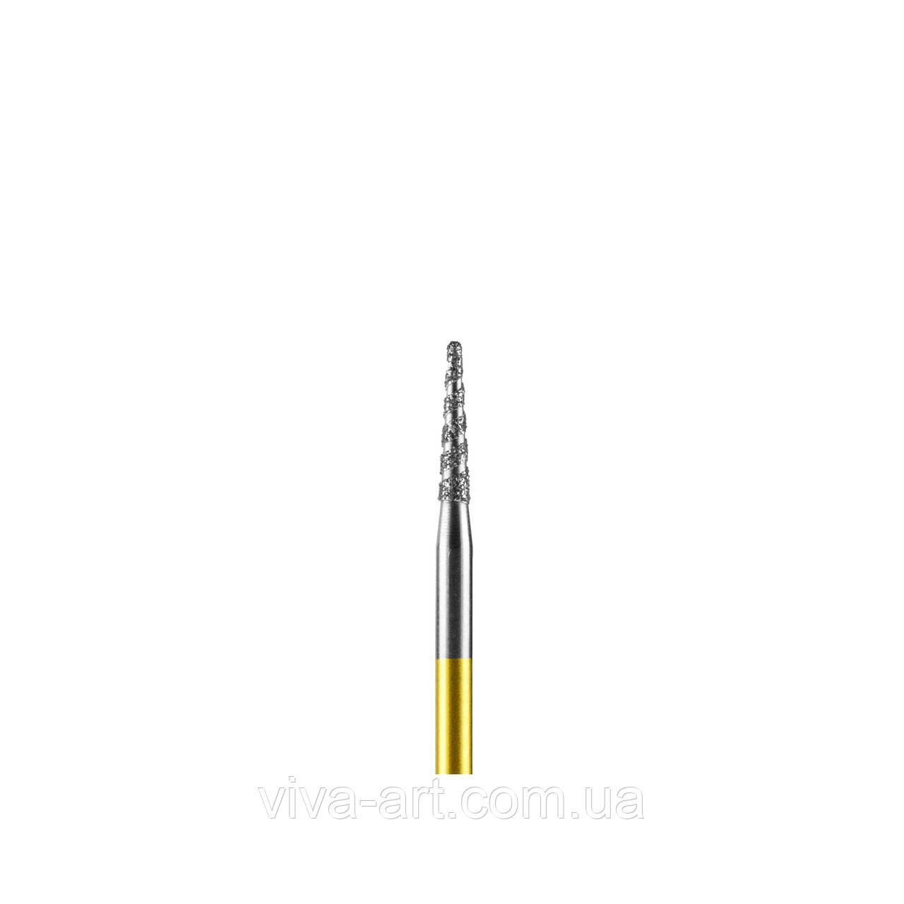 Алмазная насадка конус турбо, 1.8 мм, средний абразив, Diaswiss (Швейцария)