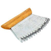 Гребешок наващиватель оцинкованный с деревянной ручкой