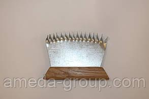 Гребешок наващиватель оцинкованный с деревянной ручкой, фото 2