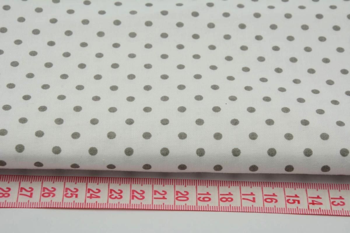 046dab21bfd Ткань хлопок серый горох 4 мм на белом фоне  продажа