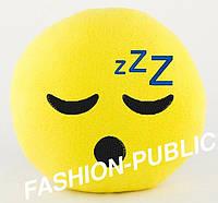Подушка смайлик спящий