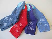 Теплые махровые носки со снежинками.