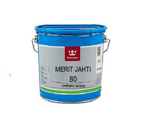 Лак поліуретановий TIKKURILA MERIT JAHTI 80 для деревини, 3л