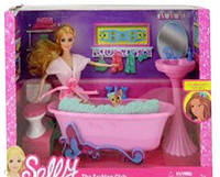 Мебель для кукол Ванная комната с куклой  68040