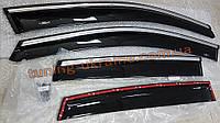 Дефлекторы окон (ветровики) HIC-Tuning с хром молдингом на BMW 5 E60 2002-2010