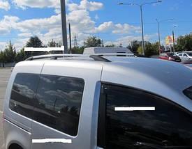 """Рейлинги VW Caddy 2004-2015 для короткой базы   Тур. тип - Premium, Пластиковые ножки, цвет """"Серый металлик"""""""