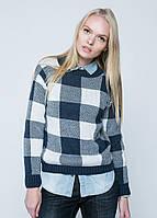 Вязаный осенний свитер женский