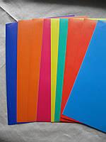 Бумага цветная, мелованная, самоклейка  А4 9 листов