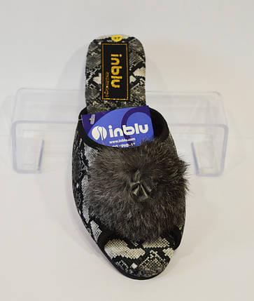 Домашние женские серые тапочки Inblu RR-4Q, фото 2