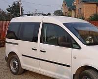 """Рейлинги VW Caddy 2004-2015 для короткой базы   Тур. тип - Can Koruma, Чугунные ножки, цвет """"Черный"""""""