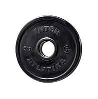 Диск обрезиненный Inter Atletika 5 кг