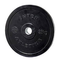 Диск обрезиненный Inter Atletika 25 кг