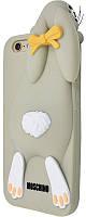 Накладка резиновая для iPhone 7 Moschino Заяц серый