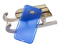 Силиконовый чехол для Samsung J320F Galaxy J3 (2016) синий / прозрачный