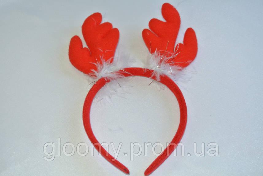 Обруч карнавальный с рожками оленя