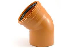Колено 45° ПВХ для наружной канализации 200мм
