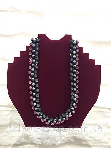 Брендовая женская бижутерия колье ожерелье с камнями , фото 2