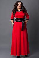 Красное платье больших размеров длинное