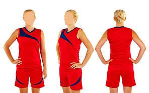 Форма баскетбольная женская красная