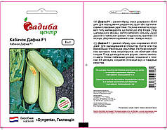 Насіння кабачка Дафна F1 (Syngenta, САДИБА ЦЕНТР), 5 насінин — ранній гібрид (40-42 дні)