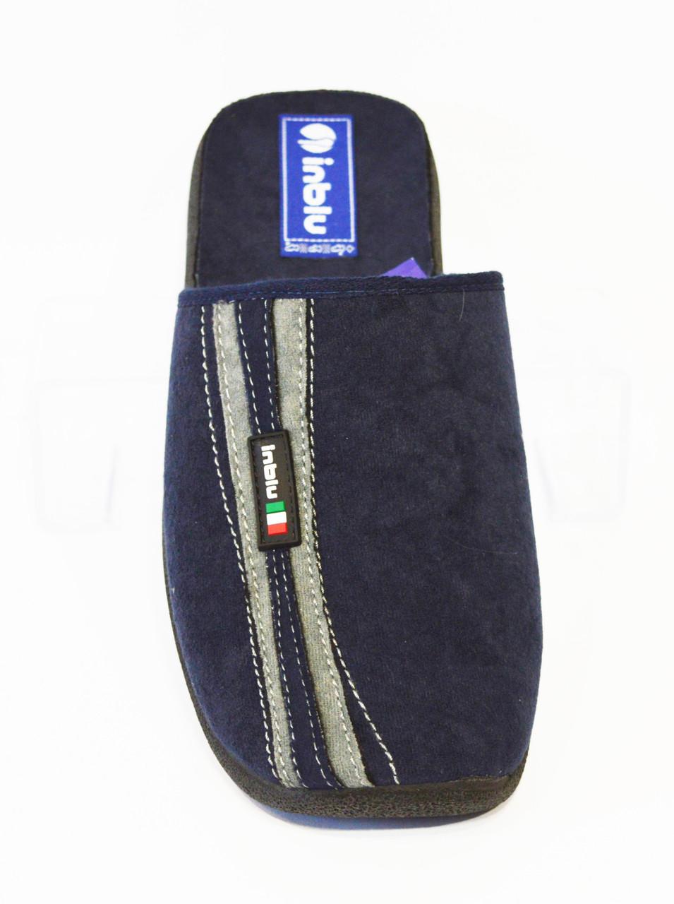 Мужские синие тапочки Inblu AC-E3