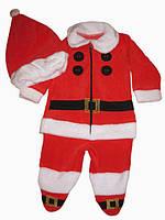 Костюм Санта клауса для новорожденного, человечек новогодний велюр Костюм деда мороза