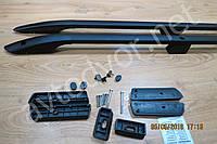Рейлинги с металлическим креплением Fiat DOBLO II 2010-2015г.в. новый кузов длинная база чёрные