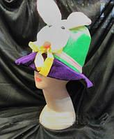 Шляпа Зайка на праздник карнавальную вечеринку корпоратив шляпа