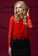 Блуза кружево 8028, гипюровая блузка