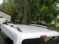 """Рейлинги VW Caddy 2004-2015 для длинной базы   Тур. тип - Premium, Пластиковые ножки, цвет """"Хром"""""""