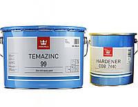 Эмаль эпоксидная TIKKURILA TEMAZINC 99 цинк-наполненная, 6+2л