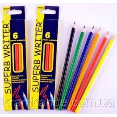 Карандаши цветные MARCO Superb Writer 4100-6СВ 6шт , фото 2