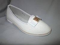 Подростковые туфли оптом, для девочек, размер 31-37, с бантом и золотой пряжкой, белые