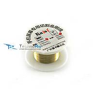 Металлическая струна для рассклеивания дисплейного модуля 100 метров (золотистая 0,06mm)