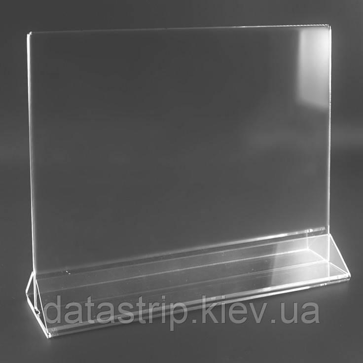 Менюхолдер с треугольной подставкой А6 горизонтальный