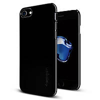 Чехол Spigen для iPhone 7 / 8 Thin Fit, Jet Black, фото 1