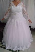 """Свадебное платье """"17-Батал-01"""" Размер 58-60 Белое"""