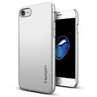 Чехол Spigen для iPhone 8 / 7 Thin Fit, Satin Silver , фото 1