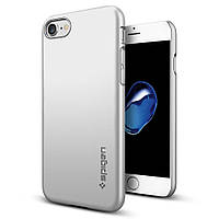 Чехол Spigen для iPhone 7 / 8 Thin Fit, Satin Silver , фото 1
