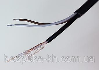 Комбинированный кабель РК-75 + 2 x 0.5 мм