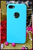 """Силиконовый чехол с прорезью для логотипа Apple iPhone 7 цвета """"тиффани"""""""