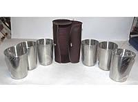 Стопки в кожаной сумке 200 мл ST3-49 3 85